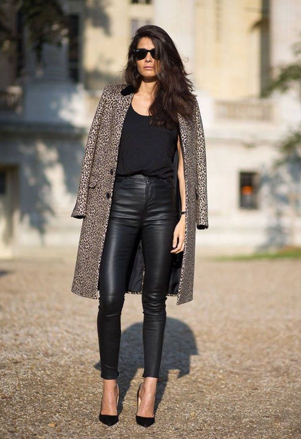 25 Style Ideas on How to Wear Leather Pants