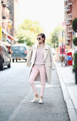 15 Pastel Coat Ideas for Awesome Winter Look